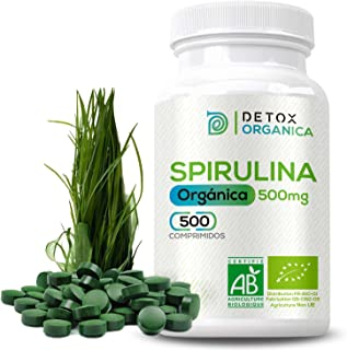 Espirulina Ecologica Comprimidos Orgánica - 500 x 500 mg | Espirulina Pastillas BIO Vegano - Saciante | Alga Espirulina Comprimidos - Rica En Proteínas+Vitaminas+Minerales - Proteina Vegana