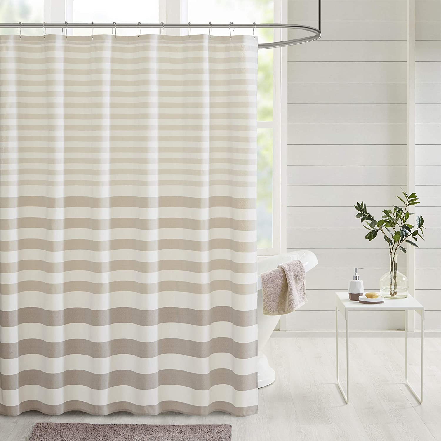 Madison Park Shower Yarn Dyed Modern Industry No. 1 Stipe sold out Woven Privacy Design