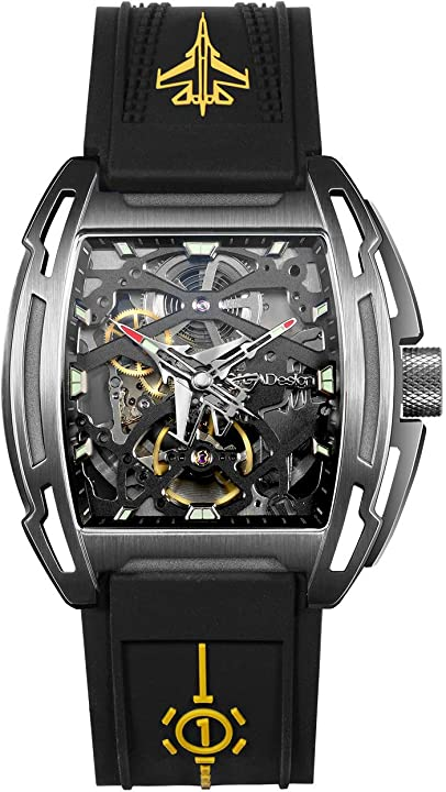 Orologio militare ciga design watch analogico impermeabile 50m con cinturino in silicone e cassa in titanio B08QRCJQSD