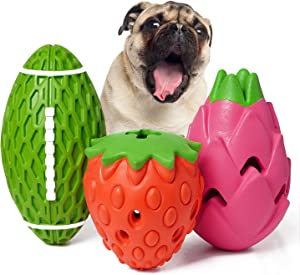 Mewajump Dog Chew Toy, 3 Pack Dog Toys for Aggressive Chewers, Tough Rubber Dog Toy, Puzzle Pet Toys Large Breed, Puppy Teething Chew Toys, Interactive Durable Toy for Medium and Large Dog