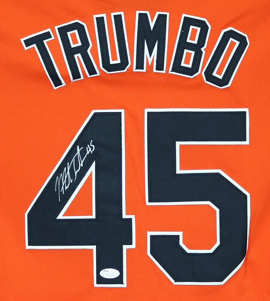 Mark Trumbo Baltimore Orioles Max 69% OFF Signed Free Shipping Cheap Bargain Gift Orange #45 Autographed Jers