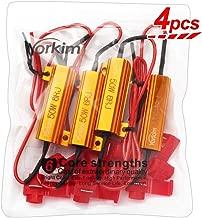 Yorkim 50W 6ohm Load Resistors, Fix LED Bulb Fast Hyper Flash, Turn Signal led Blink or Festoon Error Message, Warning Cancellor, Pack of 4