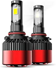 AUXITO Automobile 9005 (HB3) LED Headlight Bulbs 72W 8000Lms Per Pair Super Bright 6500K Cool White All-in-One High Beam Conversion Kit