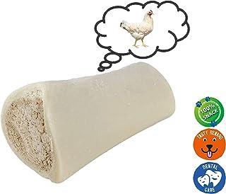AVANZONA Snack Perros Hueso de Ternera con Relleno de Pollo, Calcio, golosinas, nutritivo y Sabroso, Juguete masticable para Perros, 200G Aproximadamente