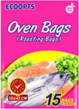 ECOOPTS Oven Bags Cooking Roasting Bags for Chicken Meat Ham Seafood Vegetable - 15 Bags (13.8 x 17 IN)
