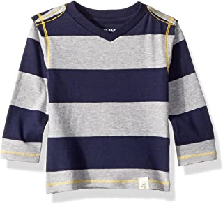 Burt's Bees Baby - Baby Boys T-Shirt, Long Sleeve V-Neck and Crewneck Tees, 100% Organic Cotton