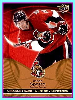 2009-10 McDonald's Upper Deck Checklists #CL5 Jason Spezza OTTAWA SENATORS