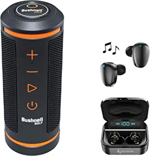 $169 » Bushnell Wingman Golf GPS Bluetooth Speaker with Included Wearable4U Ultimate Black Earbuds with Charging Power Bank Case ...