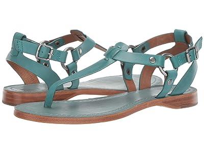 Frye Rachel Ring T-Strap (Turquoise) Women
