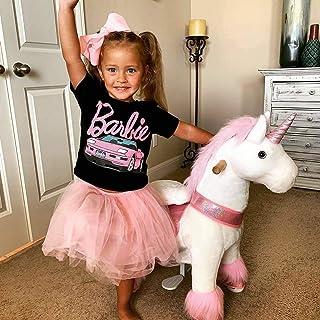 PonyCycle Official 2019 New U Series Ride on Horse Toy Plush Walking Animal Pink Unicorn Medium Size for Age 4-8 U402