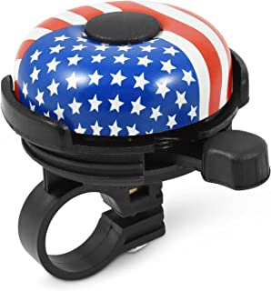 MARQUE Bike Bell for Adults & Kids – Nice, Loud, Crisp Ding Sound Bicycle Bell – Must Have Bicycle Accessories for Mountai...