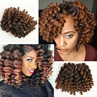 3 Packs 2X Ringlet Wand Curl JAMAICAN BOUNCE 8 inch Synthetic Hair Crochet Braids African..
