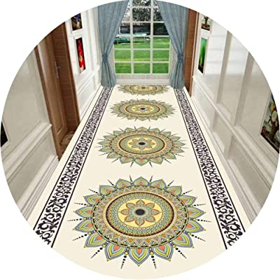 JIAJUAN Hallway Runner Rug Anti-Slip Stain Resistant Contemporary Design Living Room Bedroom Balcony Passage Customisable Length (Color : A, Size : 1.4x2m)