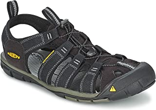 KEEN Men's Clearwater CNX Sandal,Black/Gargoyle,15 M US