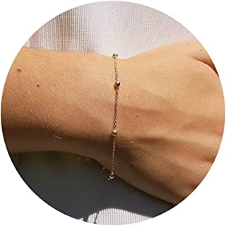 Tewiky Silver Cross Bracelet Dainty 14k Gold Cross with Pearl Bracelets Simple Faith Bracelets Cross Jewelry Confirmation ...