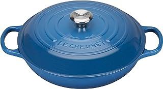 LE CREUSET Evolution Cacerola Baja Redonda, 2 L, para Todas Las Fuentes de Calor, Incl. inducción, Hierro Fundido, Azul Marseille, 26 cm
