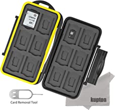 Kupton Memory Card Case Water-Resistant Shockproof Carrying Case Protector Box: 24 Slots for 12 Piece SDHC/SDXC Cards and 12 Micro SD Cards