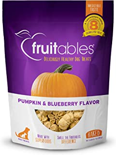 Fruitables Baked Dog Treats Pumpkin & Blueberry Flavor 7 Oz