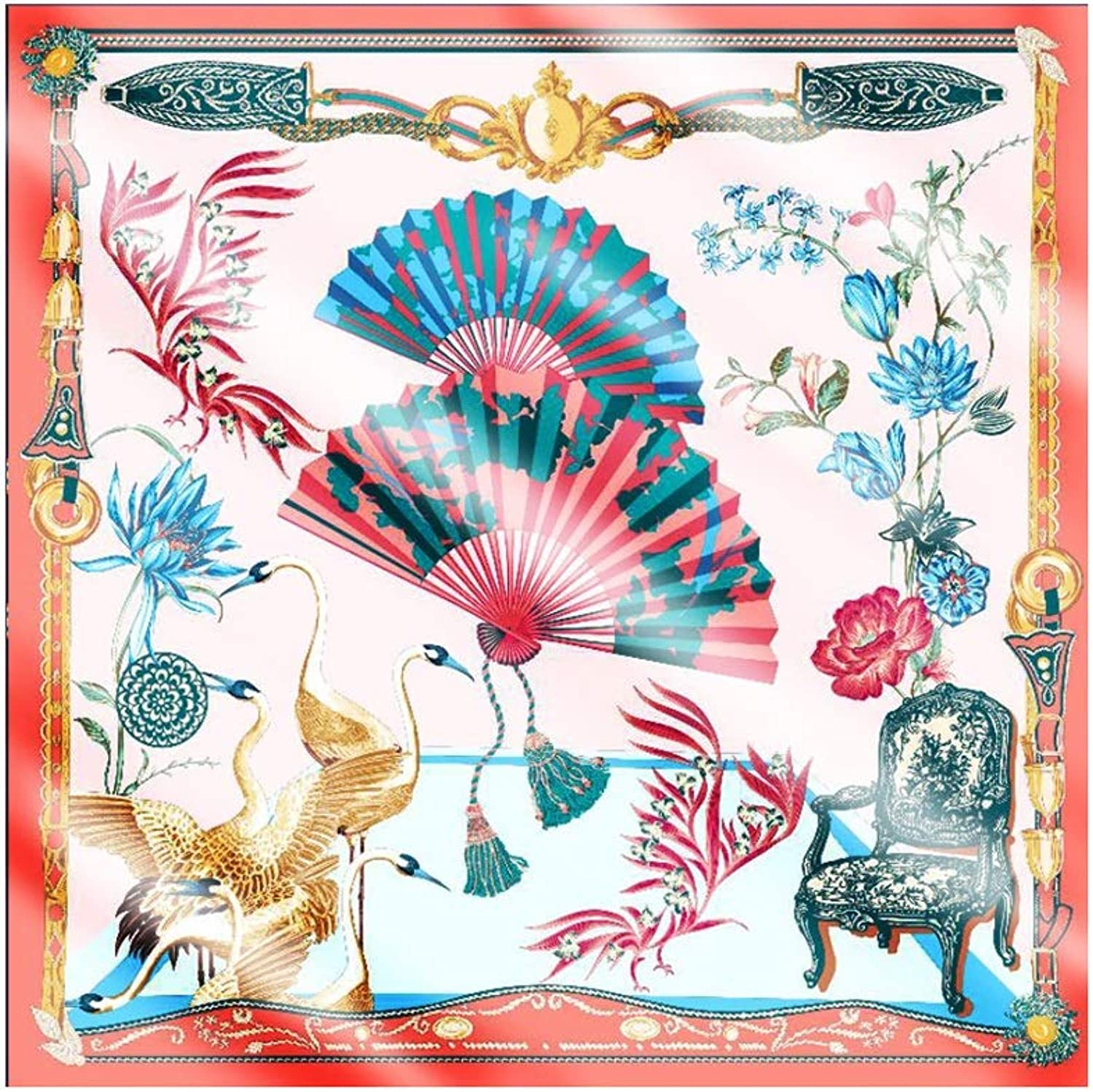 Hong Tai Yang Women's Scarves, Silk Scarves, Oversized, Large Square Scarf, Shawl The Most Beautiful Gift (color   C)