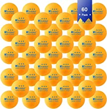KEVENZ 3-Star 40+ Table Tennis Balls,Advanced Ping Pong Ball (Orange White Assorted Color,25/50/60/100/144 Pack)