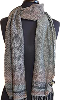 1938 Bicolor Scarf Knitted in Textured Diamond Pattern