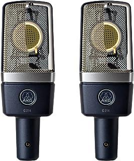 AKG Pro Audio C214 Professional Large-Diaphragm Condenser Microphone, Matched Pair