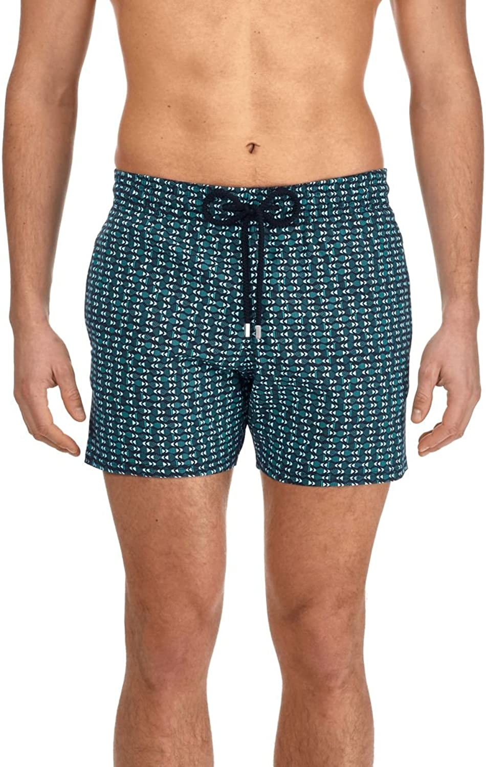 Vilebrequin Men Short and Fitted Stretch Swimwear Modernist Fish