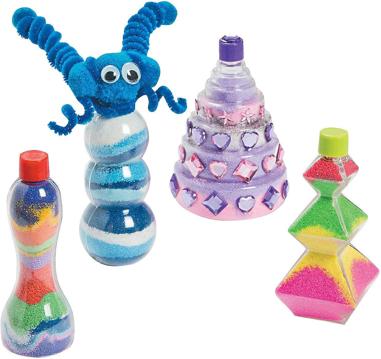 Funny Sand Art Bottles - Makes 12 Fun DIY Kids and for Crafts Super special Luxury goods price