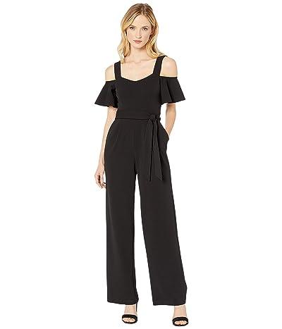 Calvin Klein Cold-Shoulder Jumpsuit (Black) Women