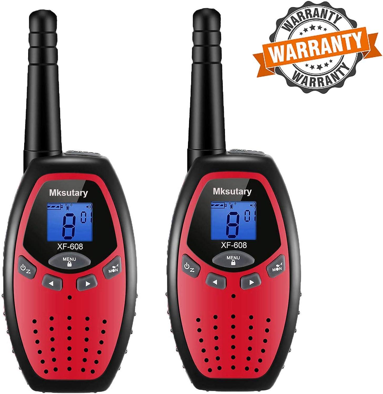 Walkie Talkies 22 Channel Two Way Radios Handheld 2 Pack Long Range Walkie Talkies for Kids Adult Boys Walkie Talky Outdoor Adventures Camping
