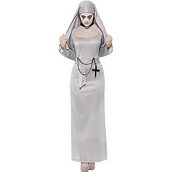 SmiffyS 43728S Disfraz De Monja Gótica Con Hábito Y Toca, Gris, S ...