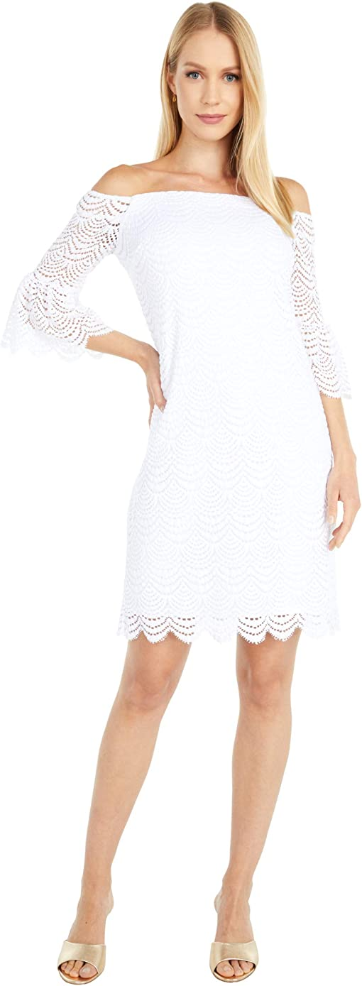 Resort White Scalloped Shell Lace
