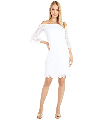Lilly Pulitzer Lexa Dress (Resort White Scalloped Shell Lace) Women