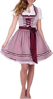 Krüger Dirndl Krüger MADL Damen Dirndl Sandy - Rosé/Bordeaux 50 cm - Schönes Trachten Kleid