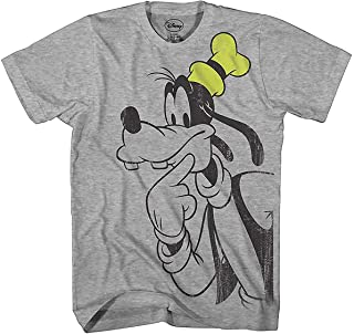Disney Goofy Thinking Vintage Classic Funny Mickey & Gang Humor Adult Mens Graphic Tee T-Shirt
