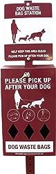 Midlee Dog Waste Station Sign & Bag Dispenser- Includes 400 Poop Bags
