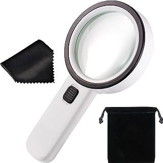 1 Stück Schmuck Lupe 10X 20X 30X,35X Vergrößerung Taschenlupe UV DE NEU