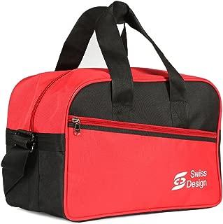 Swiss Design Unisex Travel Bag, Black/Red