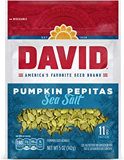 Sponsored Ad - DAVID SEEDS Sea Salt Pumpkin Pepitas Seeds 5-oz. Resealable Bag (Pack of 8)