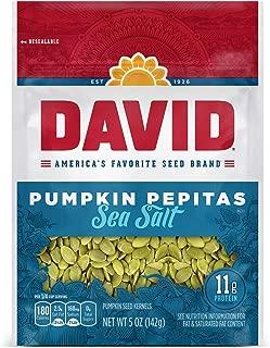 DAVID Sea Salt Pumpkin Pepitas Seeds, Keto Friendly, 5-oz. Resealable Bag