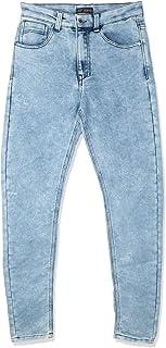 جينز رجالي بقصة مستقيمة، مقاس 34 EU، ازرق