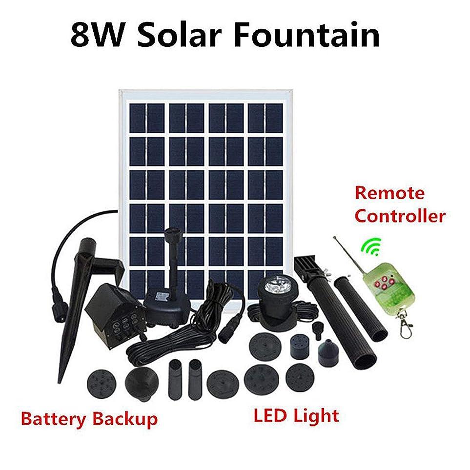 批判的にリーク衣装太陽噴水の水ポンプのキット、電池LEDライトが付いている防水そして耐久性太陽噴水の庭のプールライト太陽アップグレードされた浸水許容のスプレーヤーポンプ12V / 350L / H