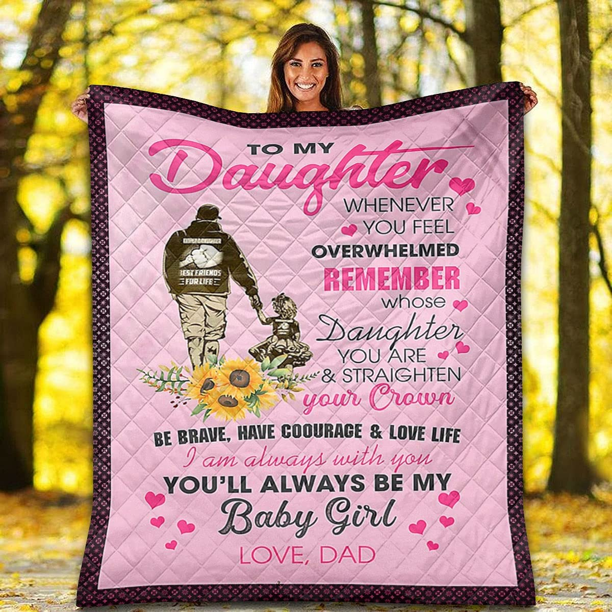 Sunflower Quilt - to My Daughter B mart Will Be Always Popular brand You
