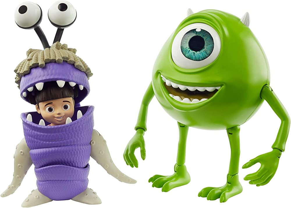 Mattel, disney pixar monsters & co. personaggi mike wazowski e boo snodabili GLX81