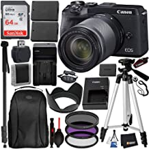 $1349 » Canon EOS M6 Mark II Mirrorless Digital Camera with 18-150mm Lens & EVF-DC2 Viewfinder (Black) (3611C021) and 17PC Professional Bundle – Includes + SanDisk Ultra 64GB SDXC Memory Card + Carrying Case