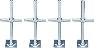 """Best CBM Scaffold A Set 4 New 1 3/8"""" Scaffolding 24"""" Adjustable Leveling Galvanized Screw Jack with Base Plate Review"""