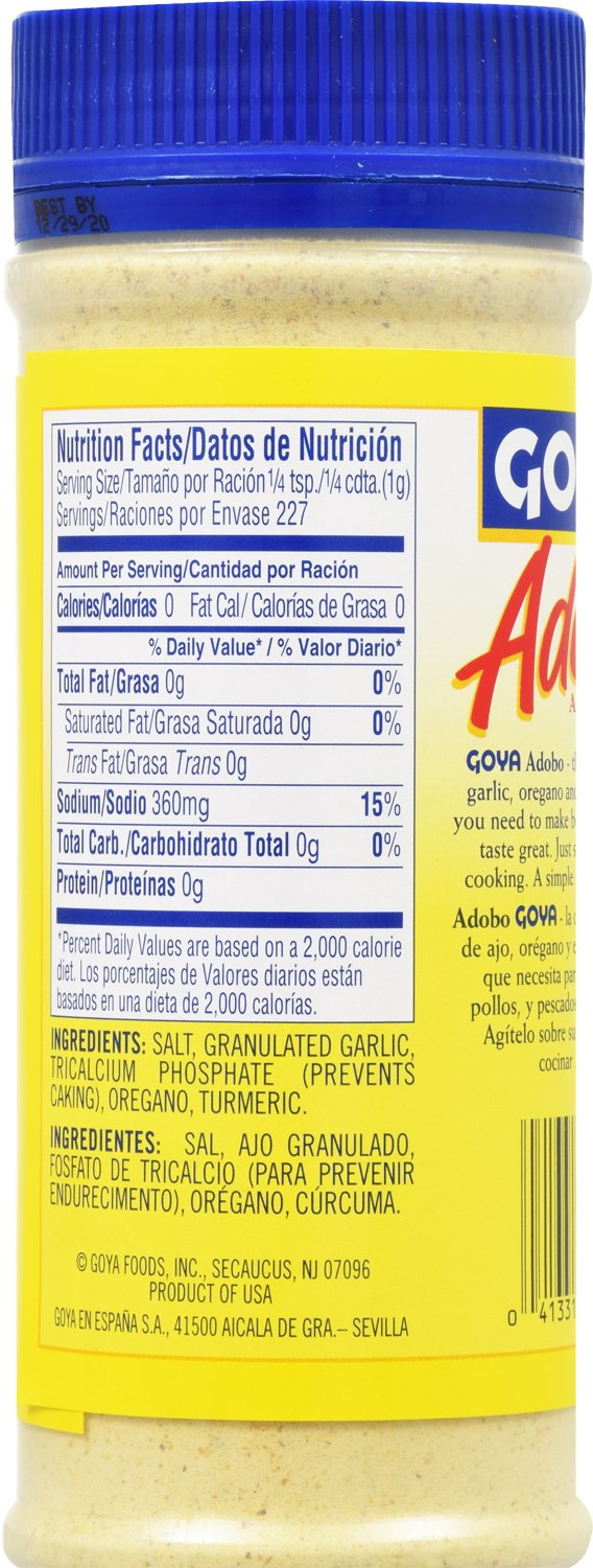 Amazon Com Goya Foods Adobo Without Pepper 8 Ounce Pack Of 24 Mexican Seasoning Grocery Gourmet Food