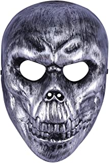 Amosfun Halloween Skeleton Mask Scary Full Face Mask for Cosplay Dress Up Props