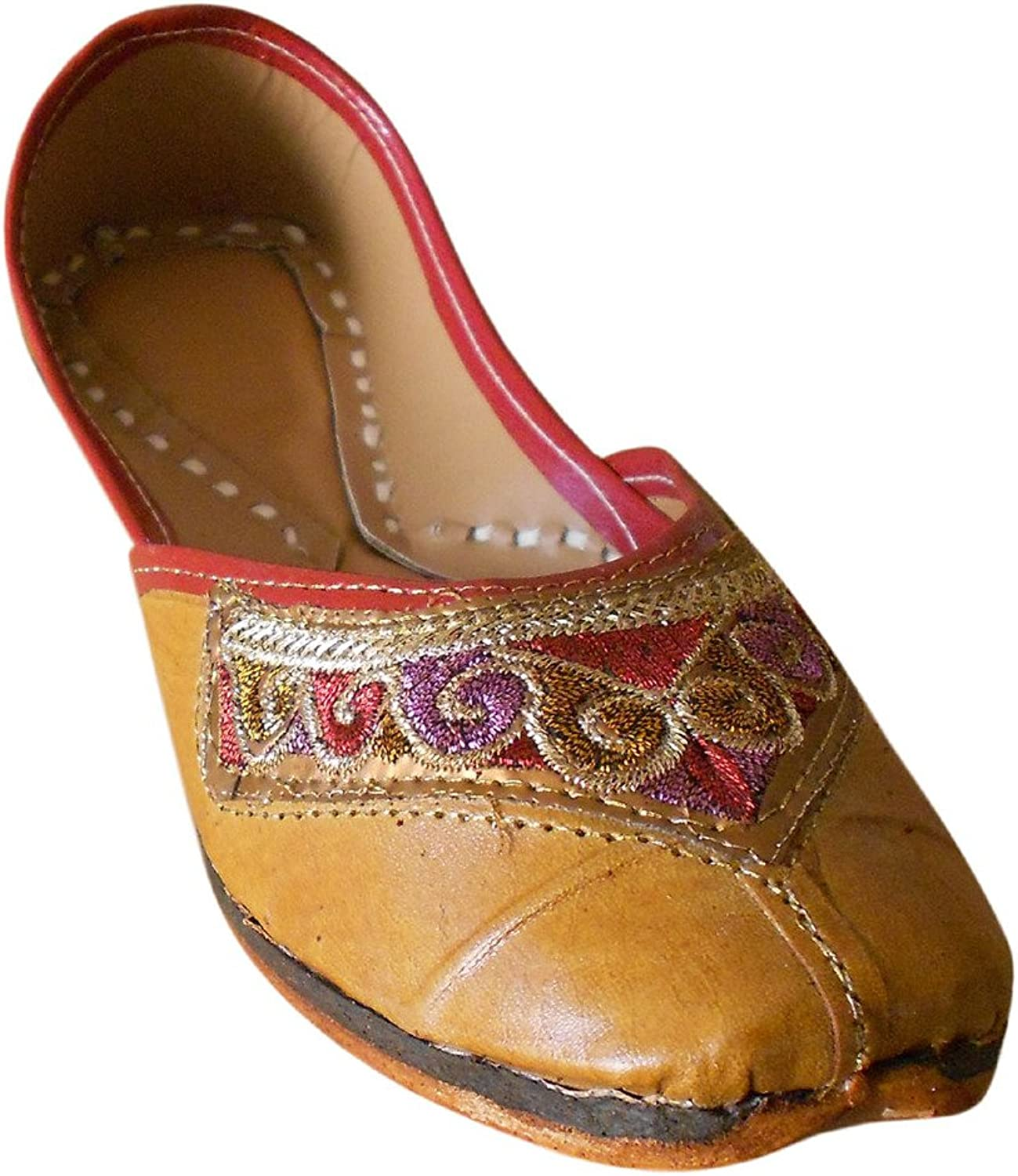 Kalra Creations Women's Traditional Indian Faux Leather Wedding shoes