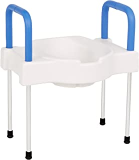 Maddak SP Ableware Extra Wide Tall-Ette Elevated Toilet Seat with Legs, Standard